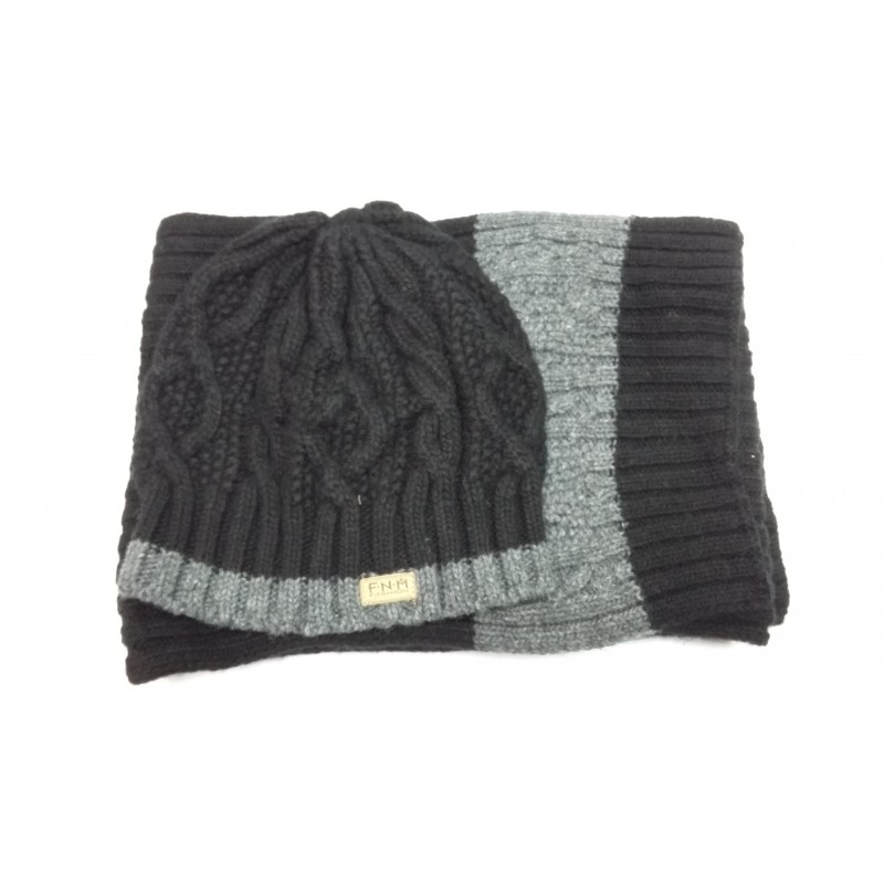 Комплект зимний FONEM шапка-шарф  FO3550 VENTUS BLACK  - фото 1